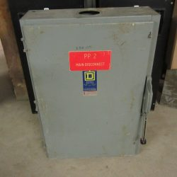 400 AMP 3 PHASE 240 VAC SQUARE D FUSIBLE SAFETY SWITCH DISCONNECT CAT# H325N
