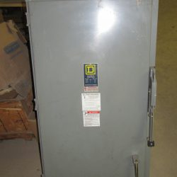 400 AMP 3 PHASE 600 VAC 3R SQUARE D NON – FUSIBLE SAFETY SWITCH DISCONNECT CAT# HU365AWK